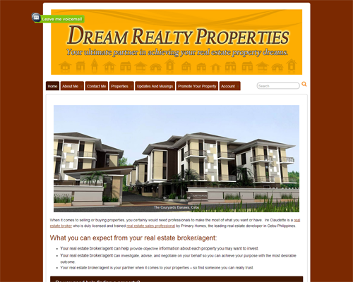 dreamrealtyproperties screenshot